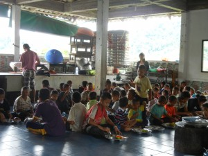 Children at the Hilltribe Learning Center in Sangkhlaburi, Thailand