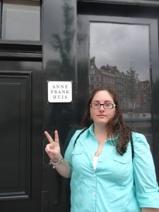 Crystal at the Anne Frank House