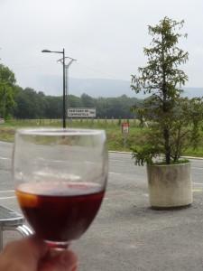 celebratory sangria in Roncesvalles