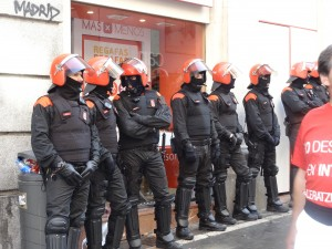riot police at San Fermin