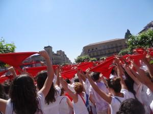 the ceremonius opening of San Fermin